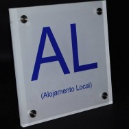 Placa para Alojamento Local
